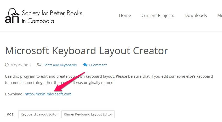 Microsoft-Keyboard-layout-creator