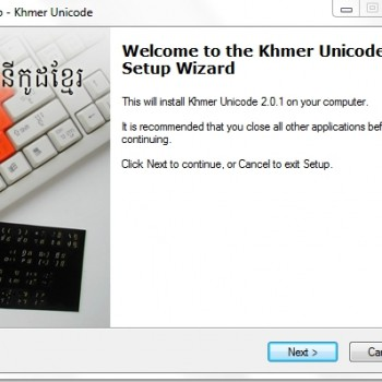 Setup-khmer-Unicode