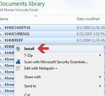 install-khmer-unicode-fonts