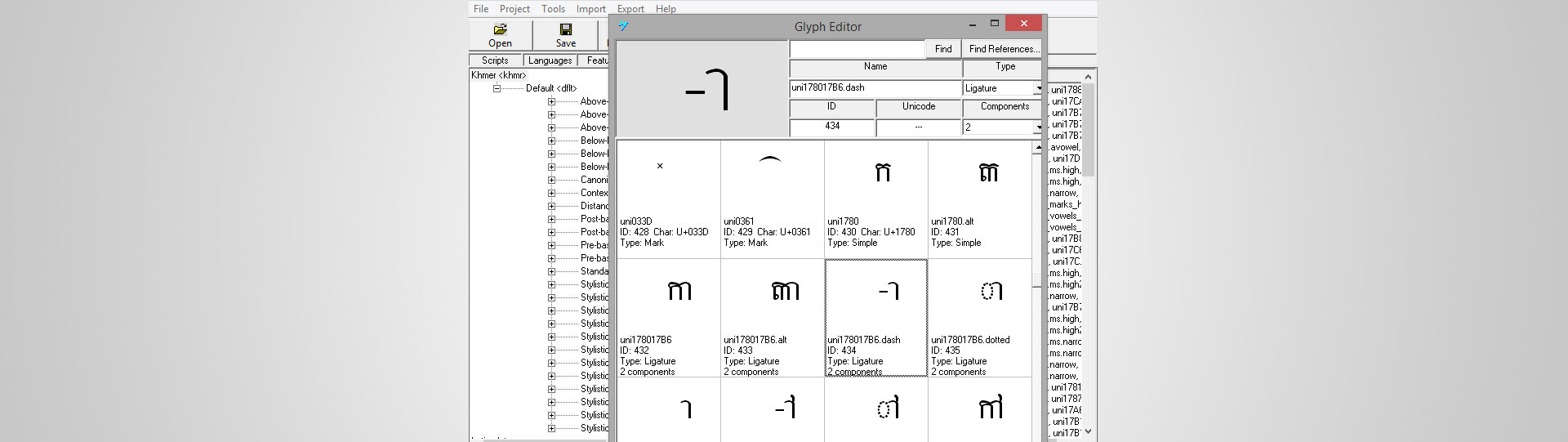 How to Create a New Khmer Unicode Font - Society for Better Books in